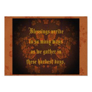 Thanksgiving Eternal Autumn Pecan & Beech Greeting Card