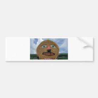 thanksgiving face bumper sticker
