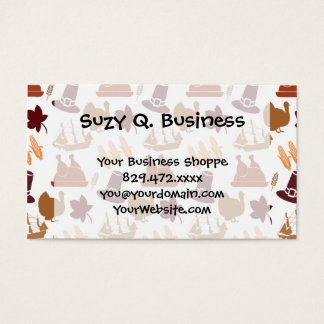 Thanksgiving Fall Autumn Harvest Pattern Business Card