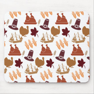 Thanksgiving Fall Autumn Harvest Pattern Mouse Pad