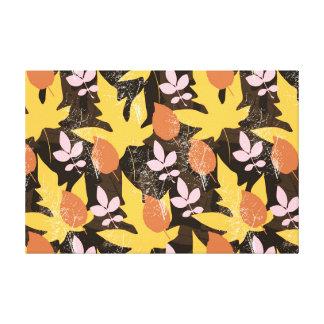 Thanksgiving Fall Autumn Pattern Canvas Print