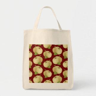 Thanksgiving Fall Autumn Pumpkin Pattern Grocery Tote Bag