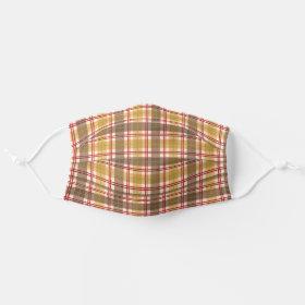 Thanksgiving Fall Gingham Plaid Tartan Cloth Face Mask
