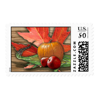 thanksgiving fall harvest stamp