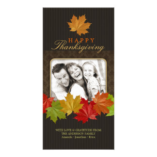 Thanksgiving Fall Leaves photo card