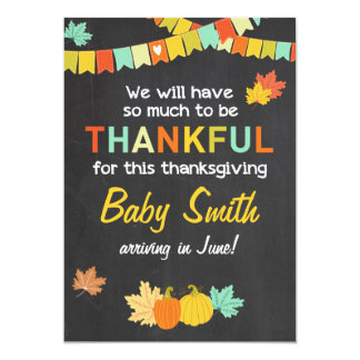Thanksgiving fall pregnancy announcement