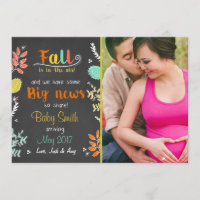 Thanksgiving fall pregnancy announcement Autumn