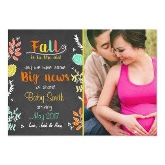 Thanksgiving fall pregnancy announcement Autumn
