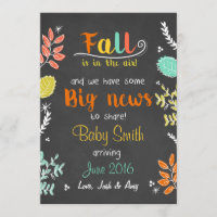 Thanksgiving fall pregnancy announcement Chalk