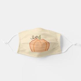 Thanksgiving Fall Pumpkin Cloth Face Mask