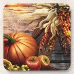 "Thanksgiving Fall Pumpking Leaves Drink Coaster<br><div class=""desc"">Thanksgiving Fall Pumpking Leaves Drink Coaster</div>"