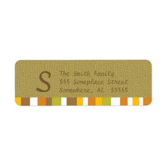 Thanksgiving/Fall Return Address Labels