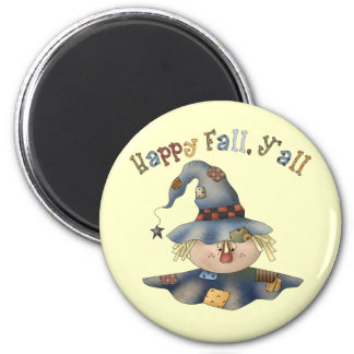 Thanksgiving Fall Round Magnet