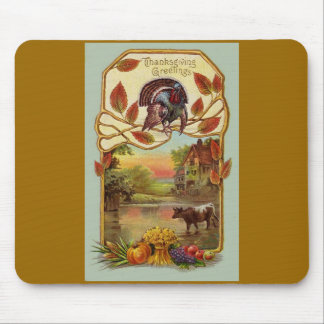Thanksgiving Fall Scene Mouse Pad