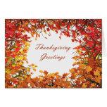 Thanksgiving Fall Tree Circle Card
