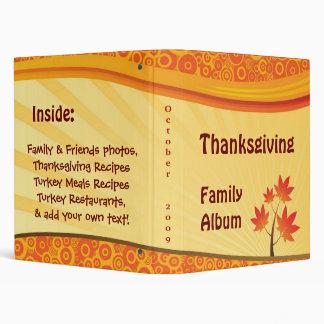 Thanksgiving Family Album 3 Ring Binder