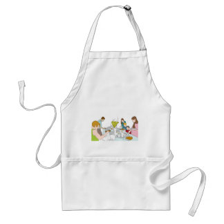 Thanksgiving Family Buffet Table Adult Apron