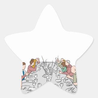 Thanksgiving Family Dinner Table Star Sticker