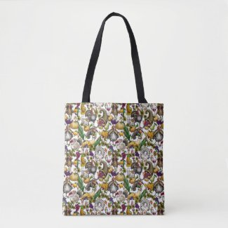 """Thanksgiving Fare"" All-Over-Print Tote Bag, Mediu"