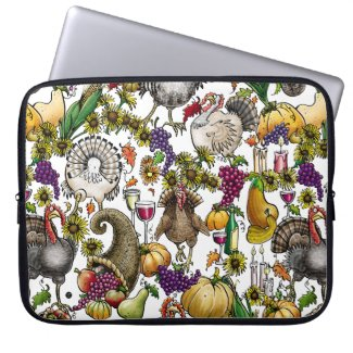"""Thanksgiving Fare"" – Neoprene Laptop Sleeve 15"""