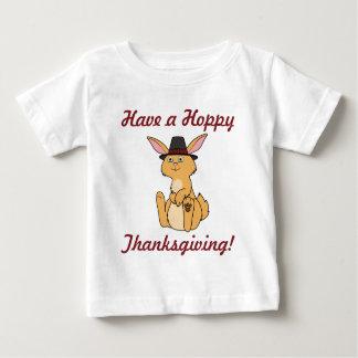 Thanksgiving Fawn Rabbit with Pilgrim Hat Baby T-Shirt