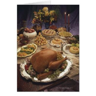 Thanksgiving feast card