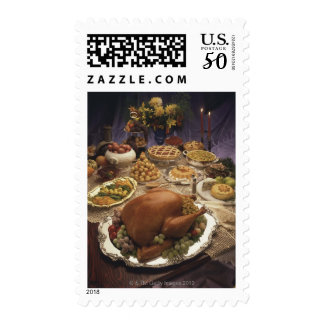 Thanksgiving feast postage