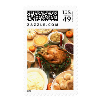 Thanksgiving Feast Postage Stamps