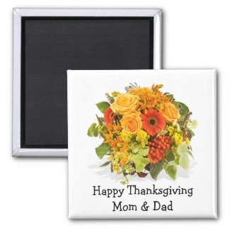 Thanksgiving Floral Magnet