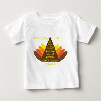 Thanksgiving Food Pyramid Dark copy.png Baby T-Shirt