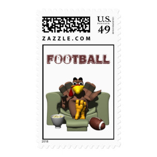 Thanksgiving Football Postage