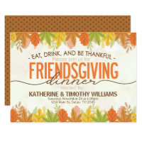 thanksgiving friendsgiving holiday turkey invitati invitation