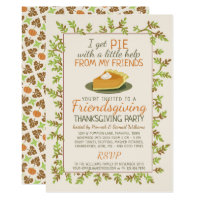 Thanksgiving Friendsgiving Party Pumpkin Pie Funny Invitation