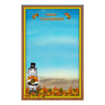 Thanksgiving Fun Personalized Stationery