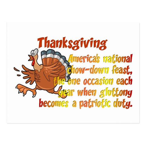 Thanksgiving Fun Postcard