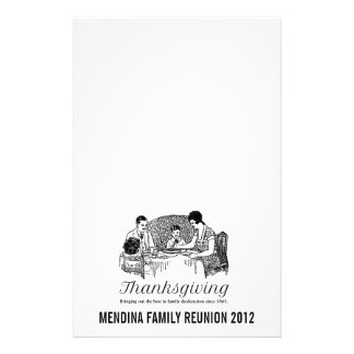 Thanksgiving Funny Family Dinners Stationery