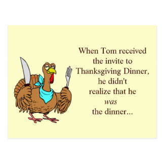 Thanksgiving Funny Postcard