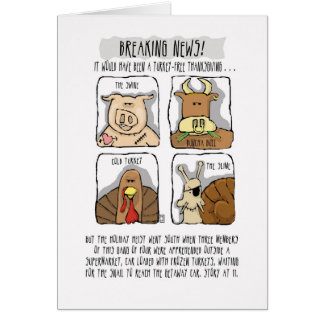 Thanksgiving Funny Turkey Comic Card