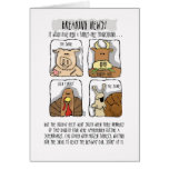 Thanksgiving Funny Turkey Comic Greeting Card