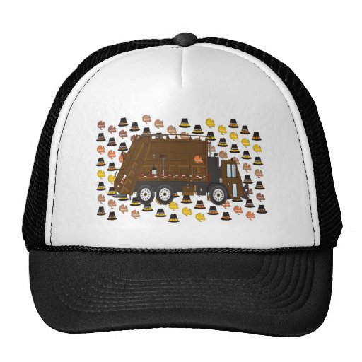 Thanksgiving Garbage Truck November Mesh Hats