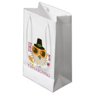Thanksgiving Gift Bags thanks thank gifts cute owl