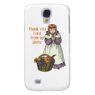 Thanksgiving girl thanking Lord for food Galaxy S4 Case