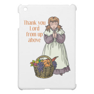 Thanksgiving girl thanking Lord for food iPad Mini Cover
