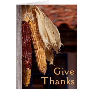 Thanksgiving Give Thanks Card with Verse Inside