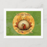Thanksgiving - Give Thanks Holiday Postcard
