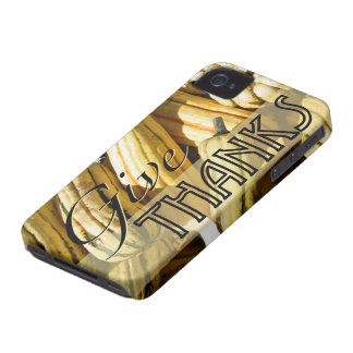Thanksgiving Give Thanks iPhone 4 Cases