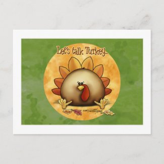 Thanksgiving - Give Thanks postcard