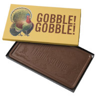 Thanksgiving Gobble Turkey 2 lb Chocolate Box