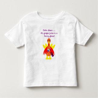 Thanksgiving Grape Juice Drinking Turkey Toddler T-shirt