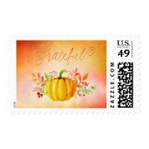 "Thanksgiving ""Grateful"" Watercolors Postage"